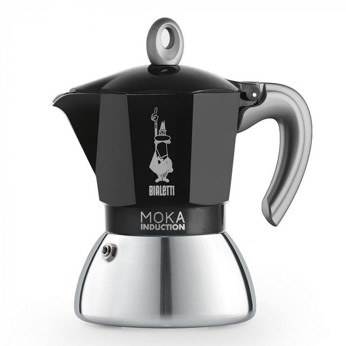 BIALETTI NEW MOKA INDUCTION BLACK 4 CUPS